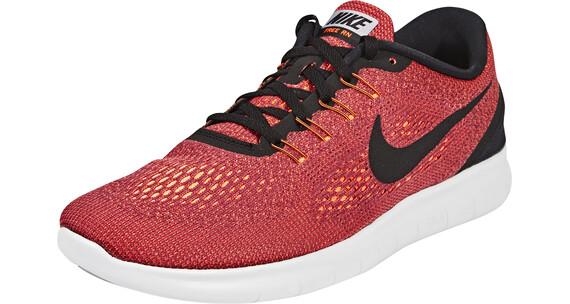 Nike Free RN Shoes Men hyper orange/black-ocean fog-wolf grey